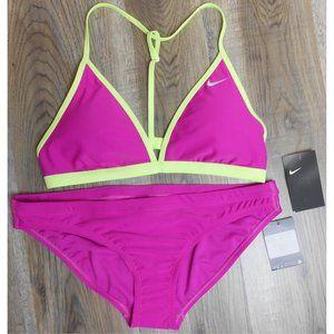 Nike Swim Bikini Women's XL Magenta Pink & Yellow 2 Piece Set